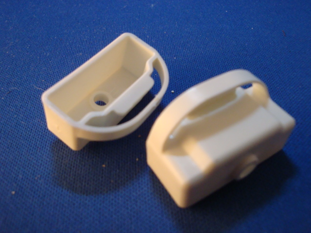 Plastic replacement window covering end cap